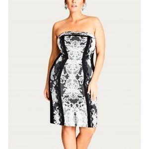 City Chic strapless dress L / 20